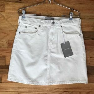 Everlane Off White Denim Skirt NWT Sz 28